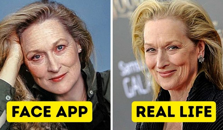We used the old-age app on 15 old pics of celebs, and compared them with their recent photos